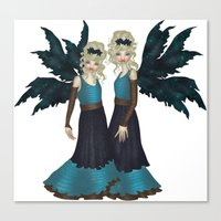 Rose Sisters Canvas Print