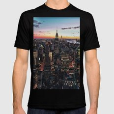 NY CITY Black Mens Fitted Tee SMALL