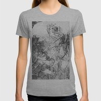 Abstract Nature Womens Fitted Tee Athletic Grey SMALL