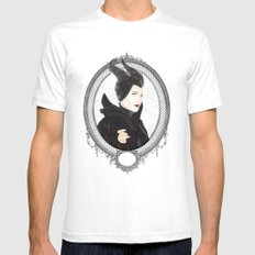 Maleficent White SMALL Mens Fitted Tee