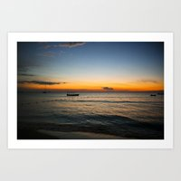 Negril Sunset 001 Art Print