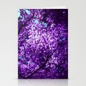 purple tree XXXIV Stationery Cards