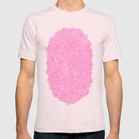 Pink Swirly Doodle Mens Fitted Tee Light Pink SMALL