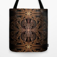 Steampunk Engine Abstract Fractal Art Tote Bag