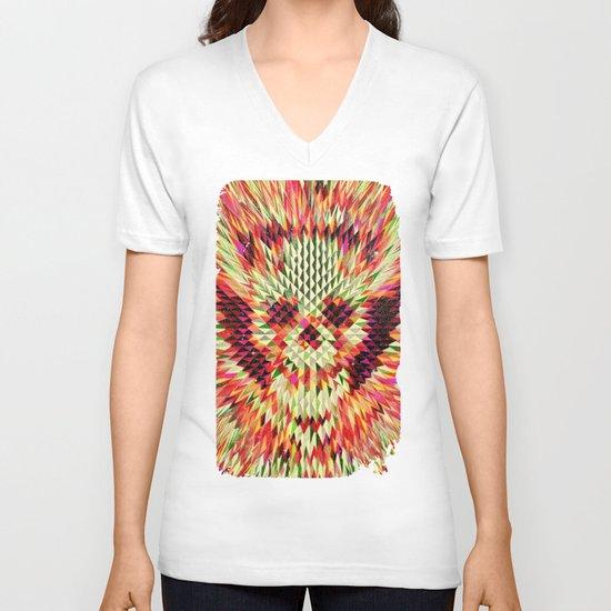 Geo Skull V-neck T-shirt