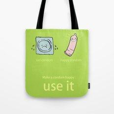 Happy Condom Tote Bag