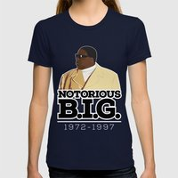 Christopher 'Notorious B… Womens Fitted Tee Navy SMALL