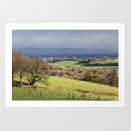 Winter Farmland Art Print