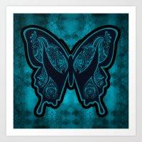 Henna Butterfly No. 6 Art Print
