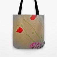 as cardboard poppies Tote Bag
