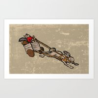 The Nut Express Art Print