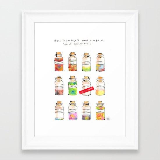 Emotionally Available Framed Art Print