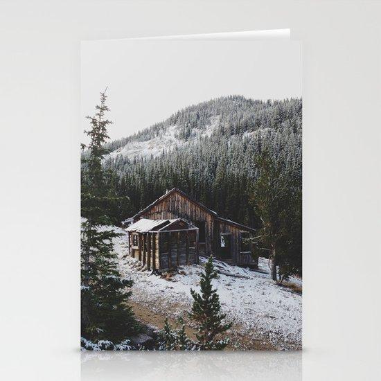 Snowy Cabin Stationery Card