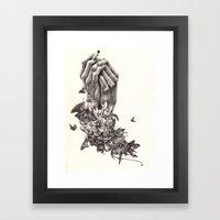 Pray for Nature Framed Art Print
