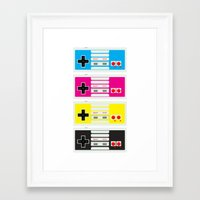 CMYK Retro Gamer  Framed Art Print