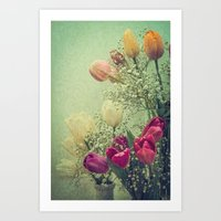 Vintage French Tulips --… Art Print