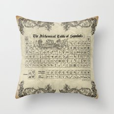 The Alchemical Table Of … Throw Pillow