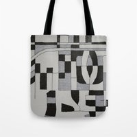 Silver Map Tote Bag