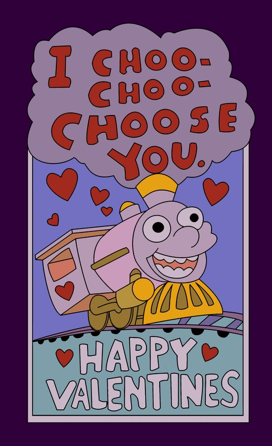 The Simpsons: I choo-choo-choose you Art Print