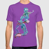 Zombies And Skateboards Mens Fitted Tee Ultraviolet SMALL
