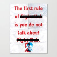 The First Rule Of Fight … Canvas Print