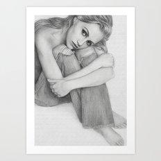 Brittany Murphy Sketch Art Print
