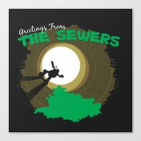 Greetings From the Sewers Canvas Print