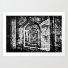 Monochrome Arches Art Print