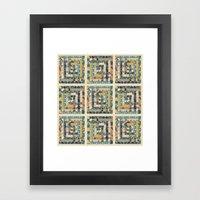 Art Deco Patchwork Framed Art Print