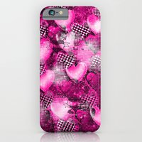 iPhone & iPod Case featuring Light Bulb Hearts Series (pink) by KRArtwork