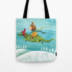 Anietshka and the snow Tote Bag