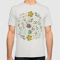 Bloom  Mens Fitted Tee Silver SMALL