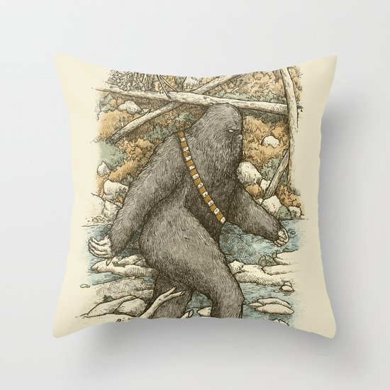 Went for a Wook Throw Pillow