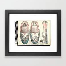 Sailor's Shoes Framed Art Print