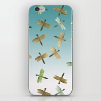 Mint Gold Blue Watercolo… iPhone & iPod Skin