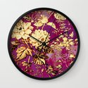 rich floral Wall Clock