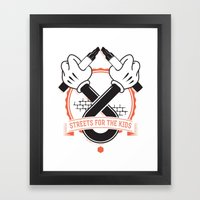 Streets For The Kids Framed Art Print