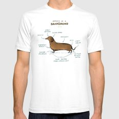 Anatomy of a Dachshund SMALL White Mens Fitted Tee