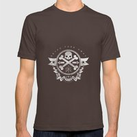 Bad Bones Crew 2 Mens Fitted Tee Brown SMALL
