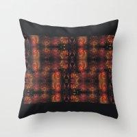 Dragon Gold Throw Pillow