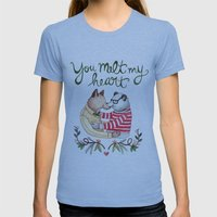 Melt My Heart Womens Fitted Tee Athletic Blue SMALL
