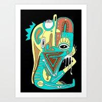 Dimensional Beings III Art Print