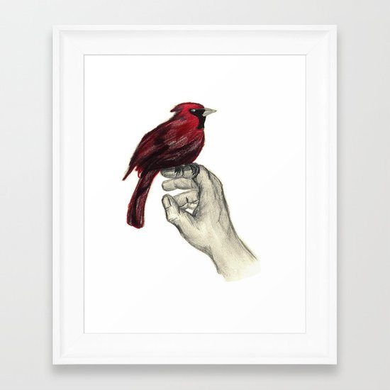 Cardinal Focus Framed Art Print