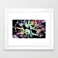 Tie dyed Magpi Framed Art Print