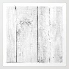 Vintage White Wood Art Print