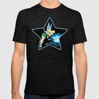 Classic Tinkerbell Mens Fitted Tee Tri-Black SMALL