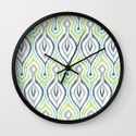 Sketchy IKAT Wall Clock