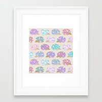 Hedgehog Polkadot Framed Art Print