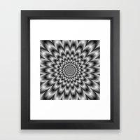 Chrysanthemum in Black and White Framed Art Print
