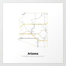 Highways of the USA – Arizona Art Print